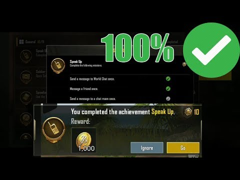 How To Complete = Send A Message To Chat Room Once - PUBG Mobile  Achievement Tips & Tricks