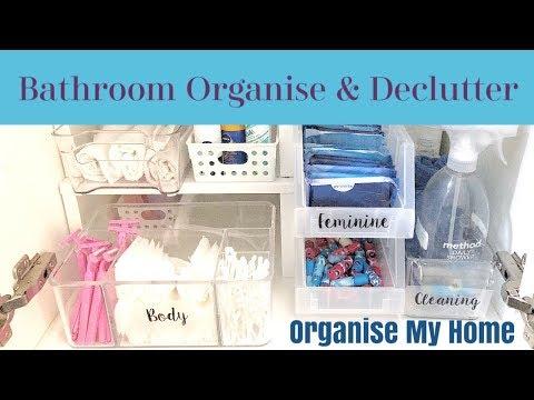 KONMARI DECLUTTER - BATHROOM ORGANIZATION IDEAS! ORGANIZE MY HOME   BATHROOM STORAGE