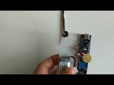 credit card sized arduino metal detector