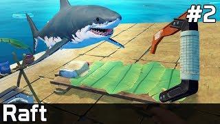 Raft Gameplay PL [#2] REKIN chce mnie ZJEŚĆ
