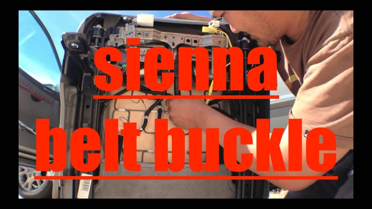 toyota sienna seat belt buckle replacement youtube. Black Bedroom Furniture Sets. Home Design Ideas