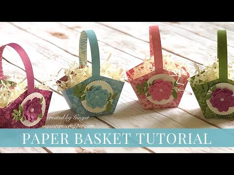 Easy Paper Easter Basket Tutorial by Ginger Ropp for Graphic 45