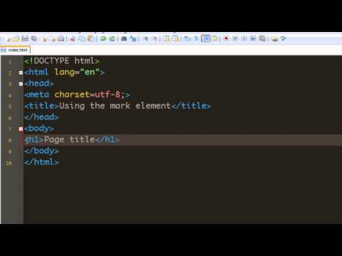 Html 5 Tutorial - 19 - Other New Elements Of Html 5.mp4
