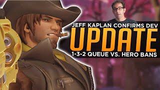 Overwatch: Jeff Confirms Developer Update! - 1-3-2 Role Queue vs. Hero Bans
