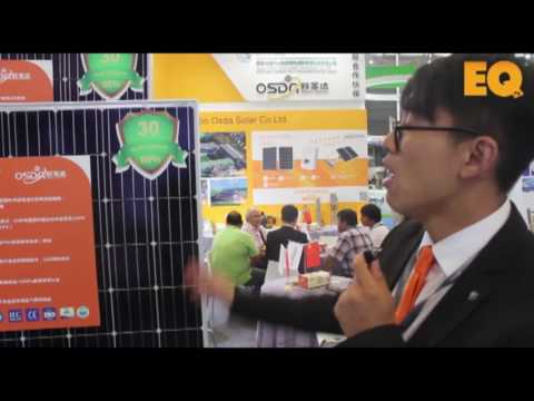 Interview with Sam Zhou of Ningbo OSDA Solar at the SNEC Expo, Shanghai