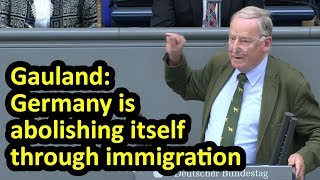 AfD's Alexander Gauland - Germany is abolishing itself Bundestag English Subtitles Rede speech