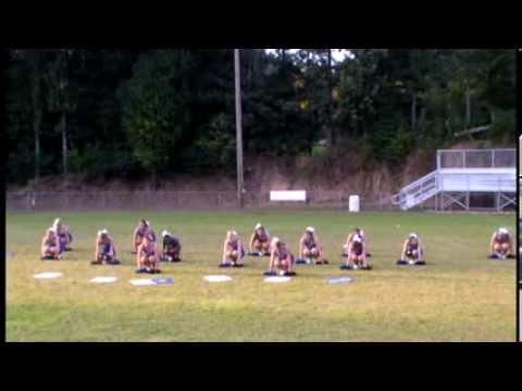 2013 Varsity Cheerleaders at Meet the Eagles night, Porters Chapel Academy