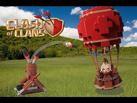 LEGO Clash Of Clans Balloon Vs Air Defense MOC Review