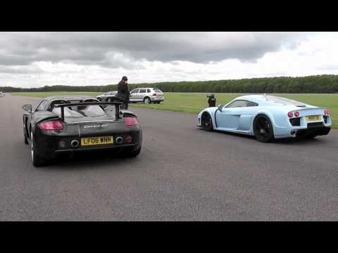 Porsche Carrera GT vs Noble M600 at Vmax 200
