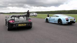 Porsche Carrera GT vs Noble M600 at Vmax 200