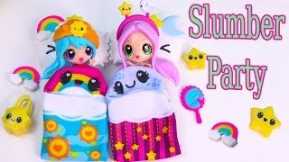 Kawaii Crush Sleep Over Day and Night BFF Slumber Party Doll Playset Pack Cute Stars Rainbows thumbnail
