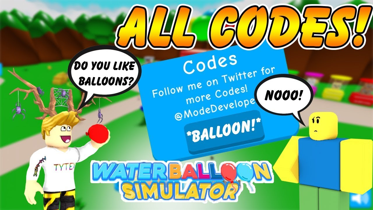 All Codes Water Balloon Simulator All Codes New Game On