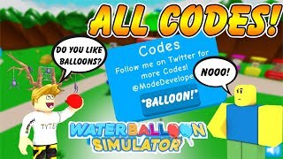 [ALL CODES]🎀Water Balloon Simulator All Codes! | New Game On Roblox! | ROBLOX