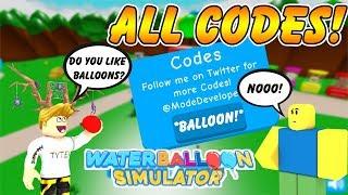 [TOUS LES CODES]🎀Water Balloon Simulator Tous les codes! Nouveau jeu sur Roblox! Roblox