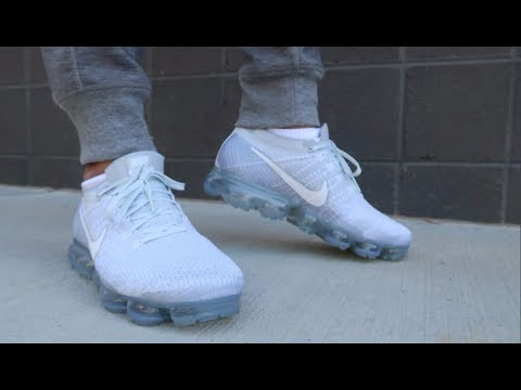 9bb14d73ba3 Nike Air Vapormax Flyknit Sneaker Detailed Look On Feet Review - YouTube