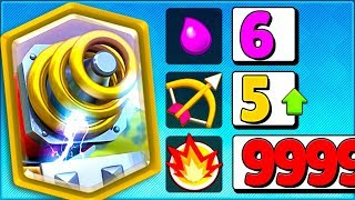 NEW SPARKY SHOOTS 5 TILES = 💜 | Clash Royale January 2019 Update!