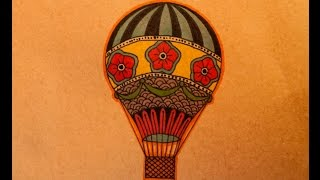How to draw an Old School Hot Air Balloon by thebrokenpuppet