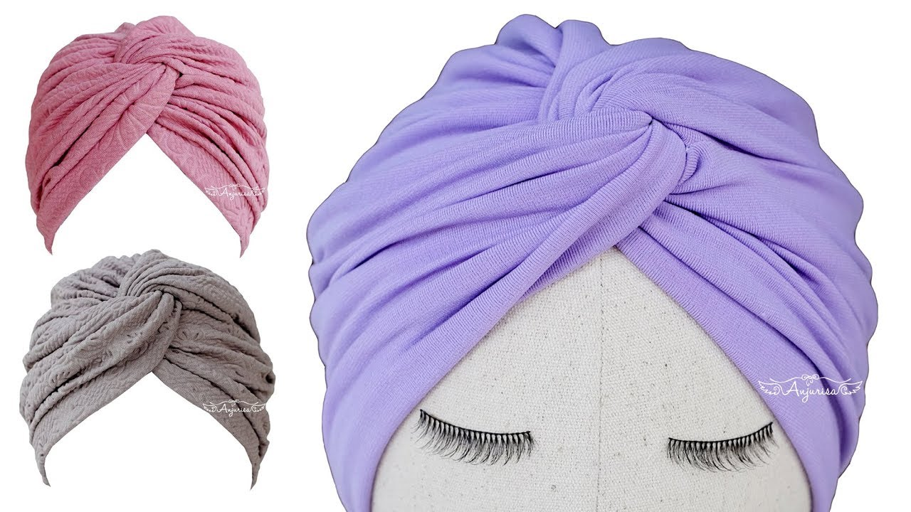 6e9e52f55 Twisted Turban Hat Sewing Pattern - Turban Hat DIY