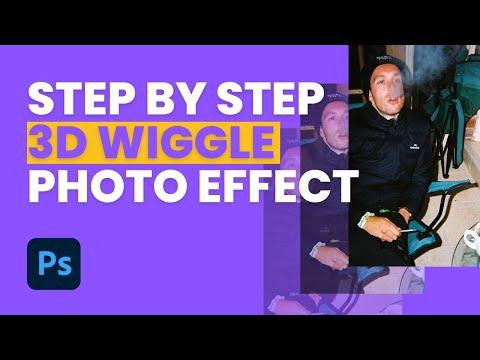 Easy Wiggle 3D Photo Effect Photoshop Tutorial (Mura Masa, RETO 3D, Nishika)