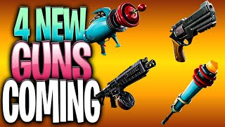 4 NEW GUNS COMING TO FORTNITE AND NEW SECRET SEASON 9 BATTLE PASS SKIN SINGULARITY - STYLES