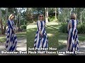 Outfit of the Day -- Just Fashion Now -- Bohemian Boat Neck Half Sleeve Long Maxi Dress