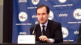 Sixers hinkie on patience, analytics