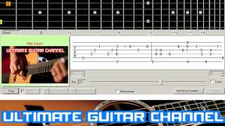 [Guitar Solo Tab] My Love (Westlife)
