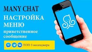 Many Chat Урок 1. Разбор меню и настройка приветственного сообщения