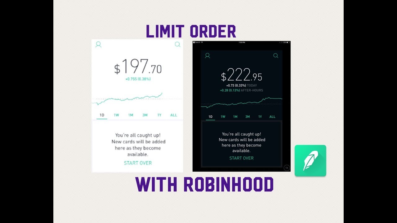 How To Use The Limit Order Type With The Robinhood App!
