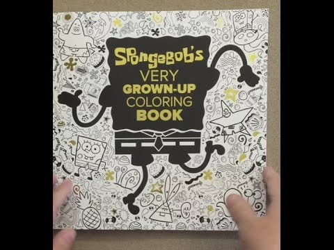 SpongeBob\'s Very Grown-Up Coloring Book (SpongeBob SquarePants) flip ...