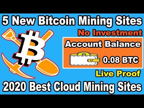 New Bitcoin Mining Website 2020 | Earn 0.08 BTC Daily Without Investment | Free 5 Mining Sites 2020