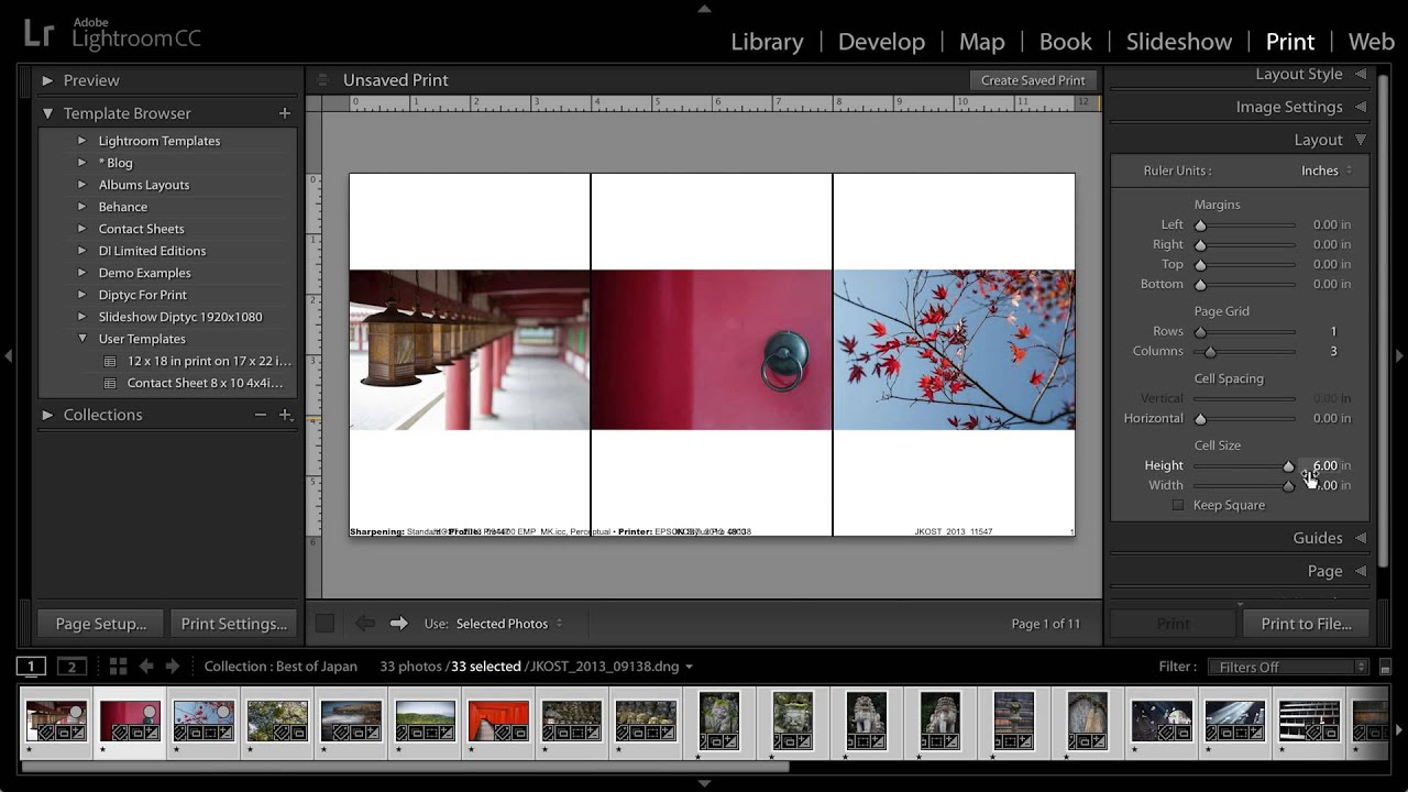 Work With Print Job Options And Settings In Lightroom Classic
