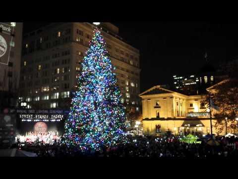 Portland Christmas Tree Lighting Festival 2014