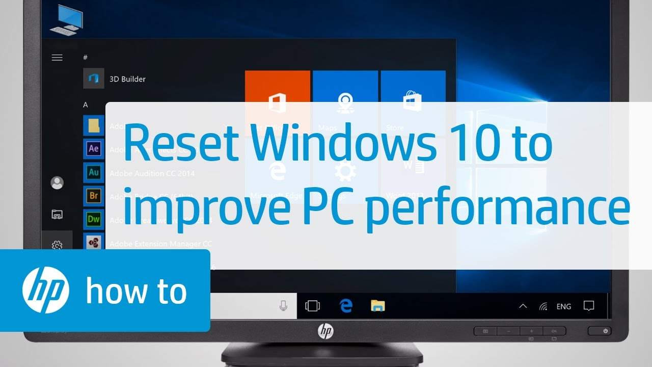 Resetting Windows 18 to Increase Computer Performance  HP Computers  HP