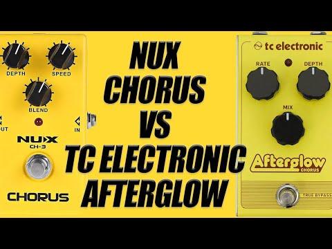 NUX CH-3 Chorus VS TC Electronic Afterglow (Same Settings)