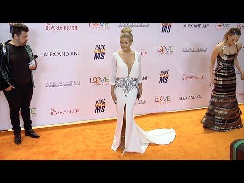 "Carmen Electra 2017 ""Race to Erase MS Gala"" Orange Carpet thumbnail"