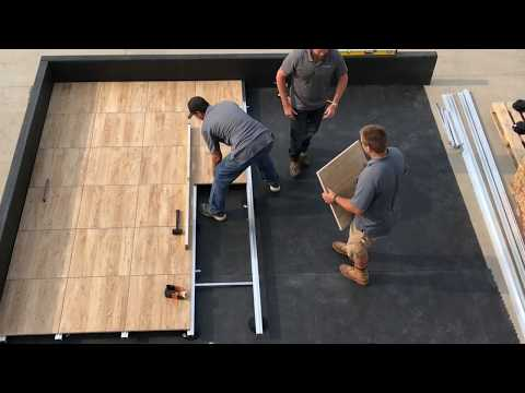 Mbrico Tile Rooftop Deck Install 192 SF Real Time