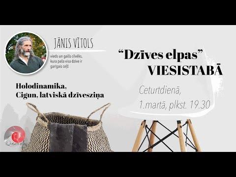 """""""Dzīves elpa"""" 01.03.18.VIESISTABĀ viesojas Jānis Vītols"""