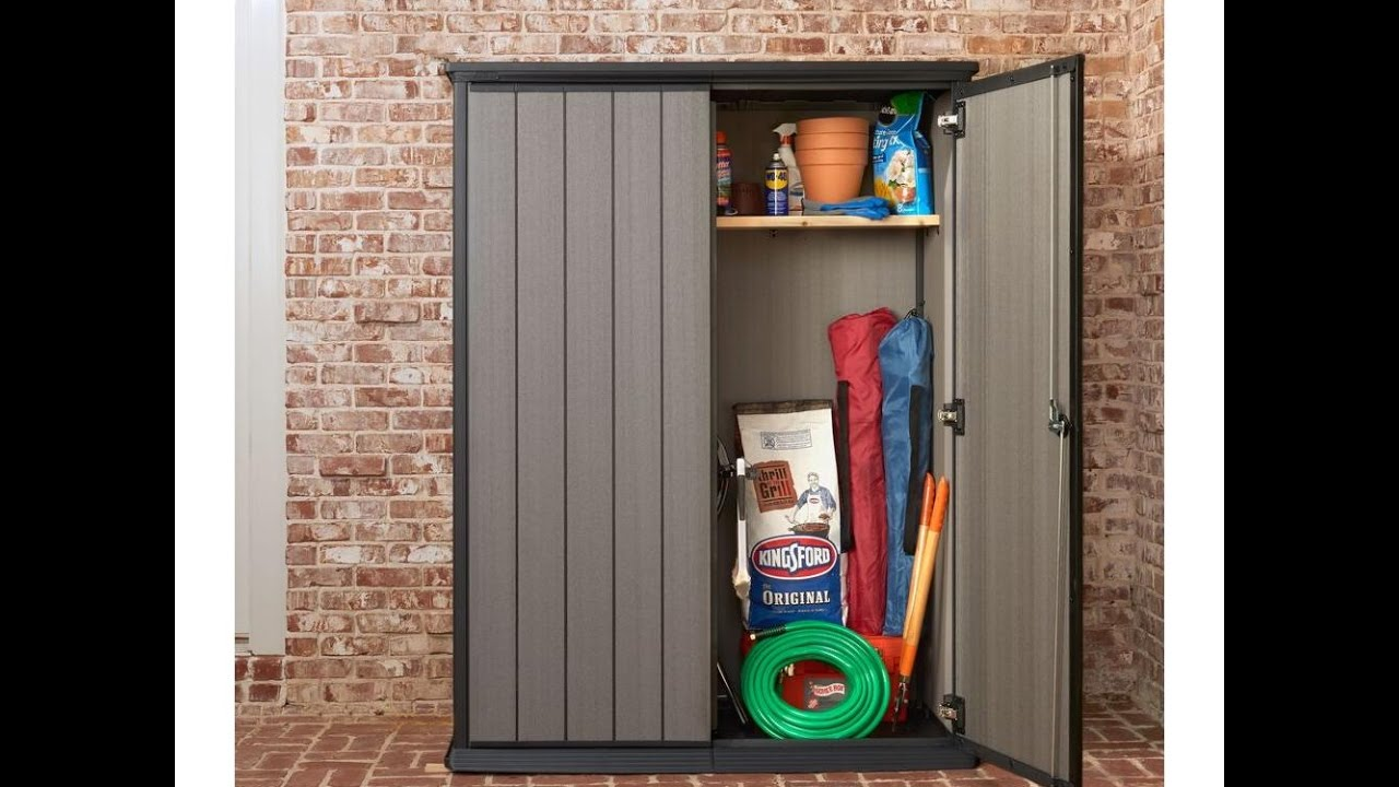 Extreem Keter High Store Shed/Cabinet - YouTube WD28
