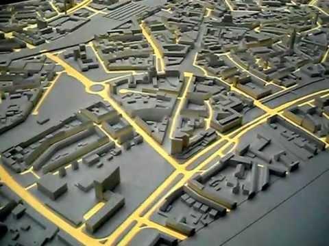 Modellbau Hannover stadtmodell mit aufprojektion für hannover 2020 werk5 modellbau