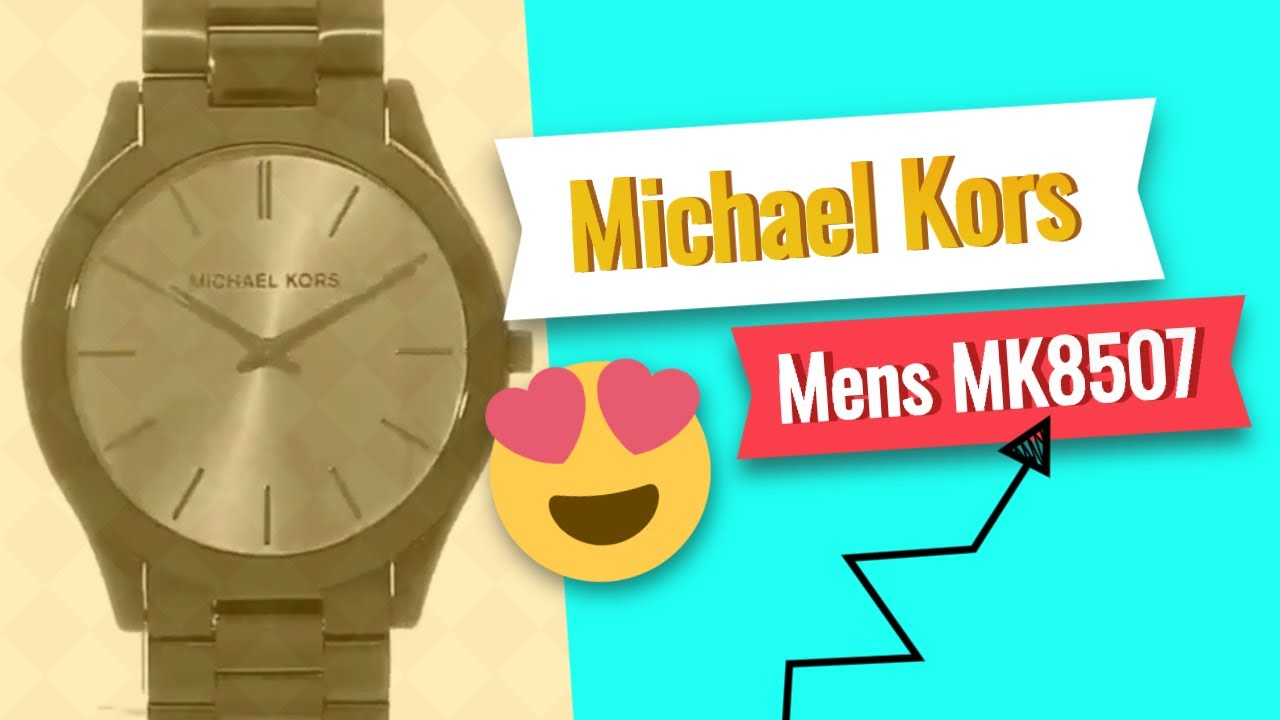 b8b028283370 Michael Kors Mens MK8507 Slim Runway - Save On Amazon - YouTube