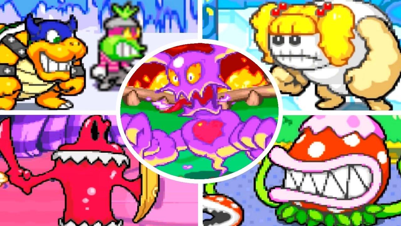 Mario Luigi Superstar Saga All Bosses No Damage Youtube