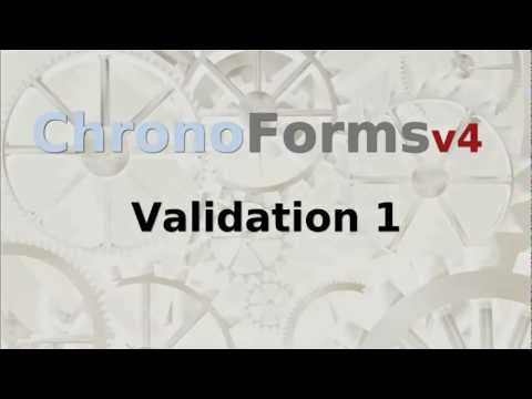 ChronoForms V4 : Validation
