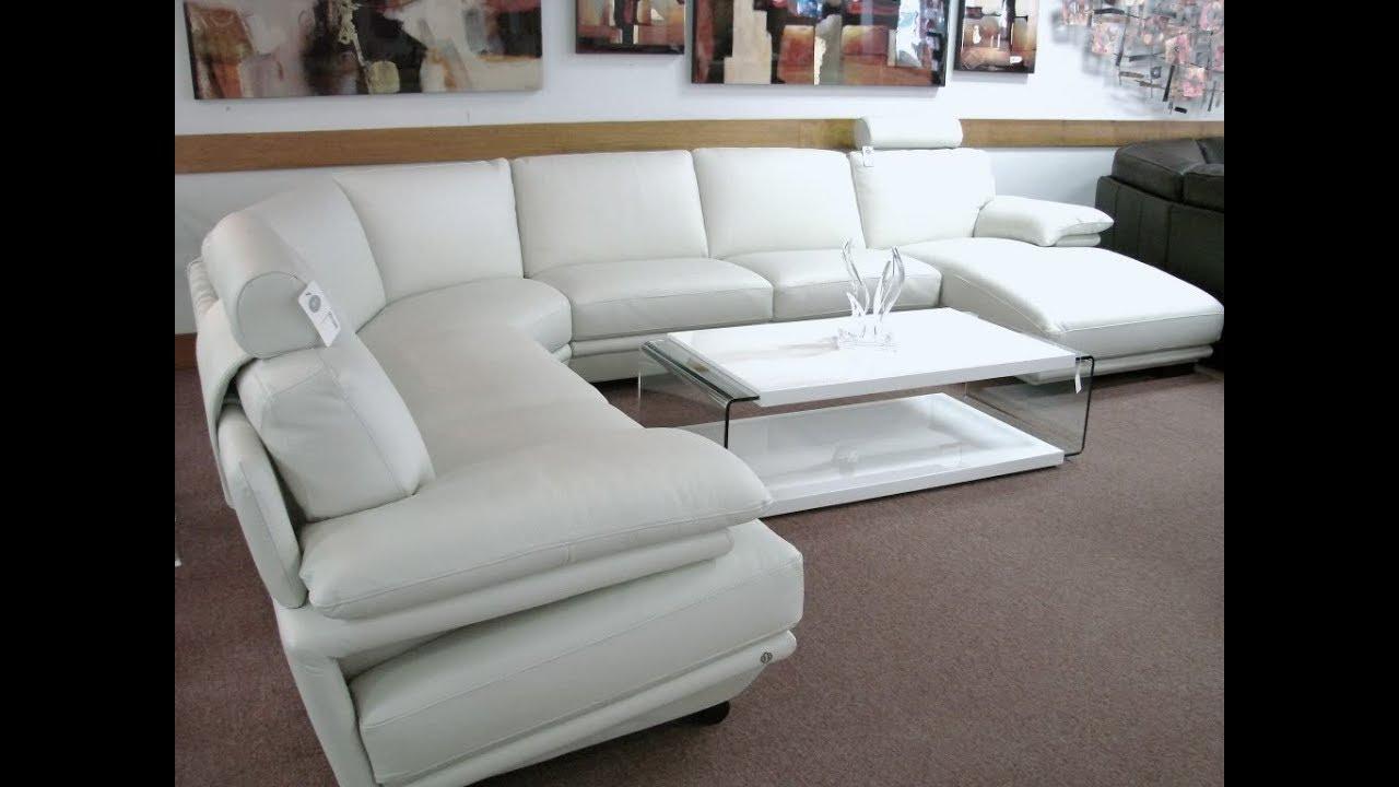 Leather Sectional Sofas Square Sofa Natuzzi Youtube