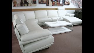 Natuzzi Leather Sectional Sofa