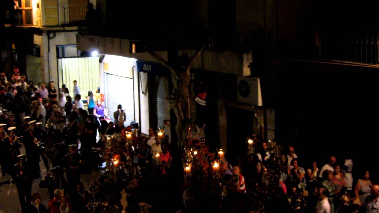 Procesion Del Stmo Cristo De La Salud Alcala La Real A Su Paso Por El Llanillo 9 2012