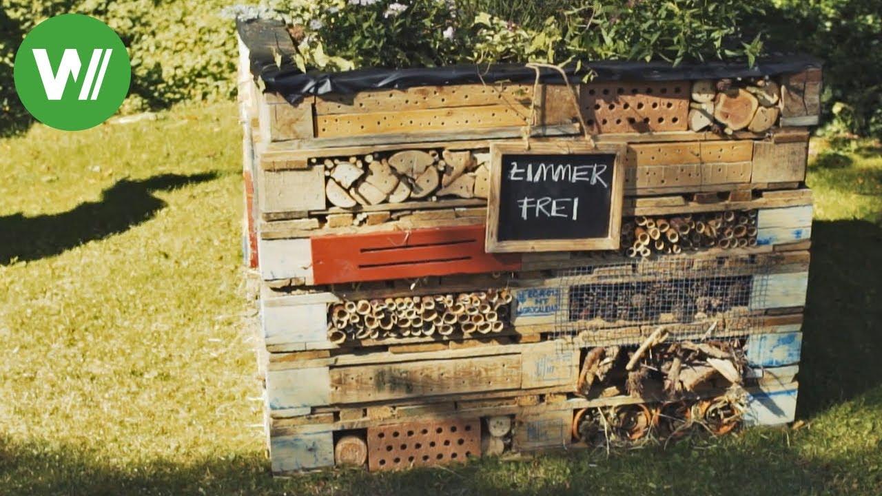 Insektenhotel und Hochbeet aus Paletten bauen   für Hummeln, Bienen und  andere Insekten