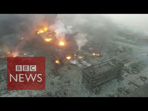 'Horror and disbelief' over Tianjin explosions - BBC News