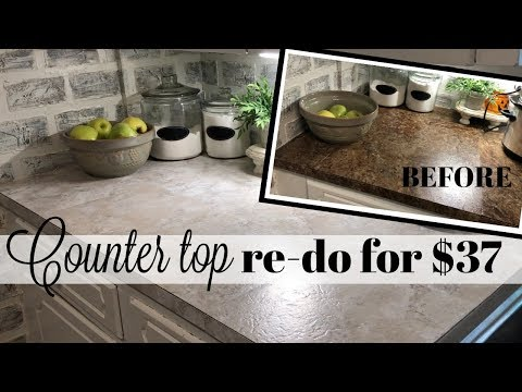COUNTER TOP RE-DO FOR $37!!