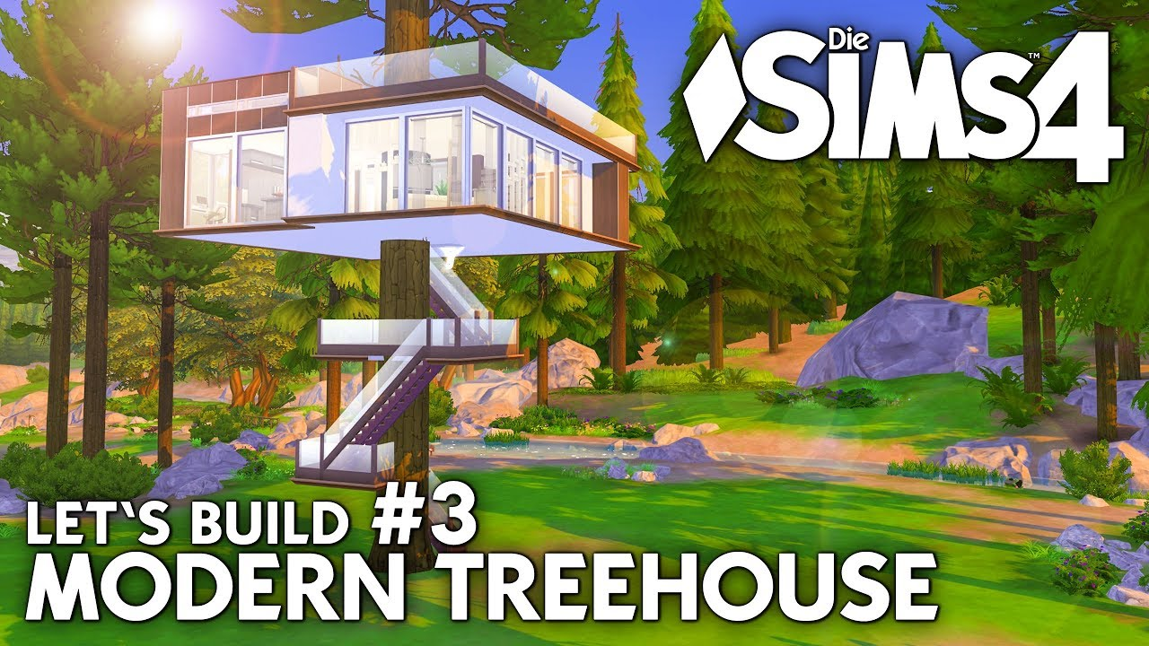 Geheimversteck Bauen modern treehouse bauen in die sims 4 let 39 s build 3 baumhaus einrichten